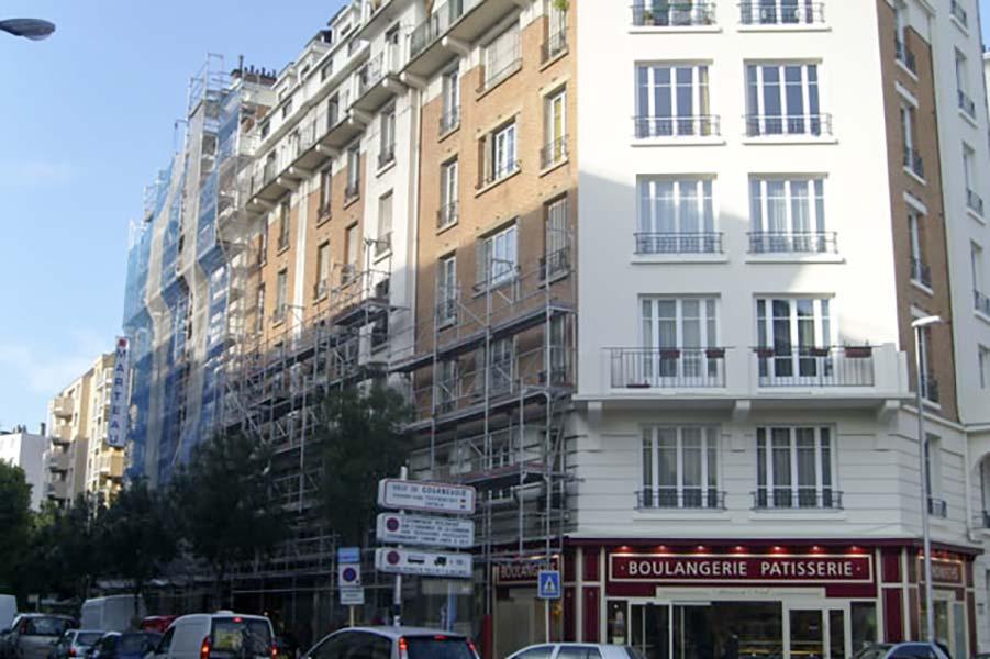 Réenovation volet résidence Pierre de Brossolette à Courbevoie