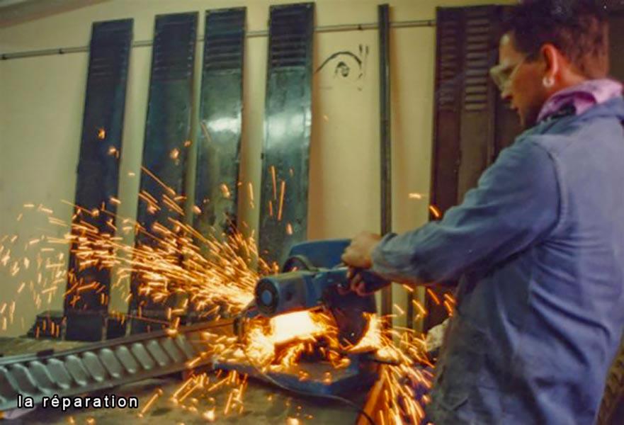 Rénovation de persiennes métalliques