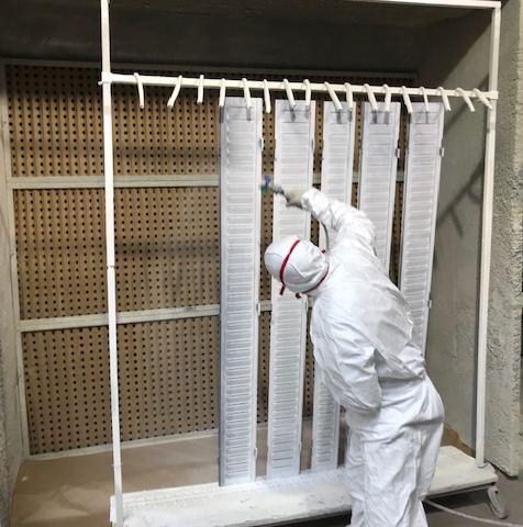 cabine de peinture mise en peinture persienne fer