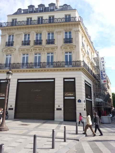Rénovation de persiennes sur les Champs-Elysées